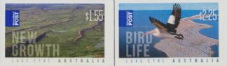 AUS SG3583-4 Lake Eyre self-adhesive set of 2 from sheetlets